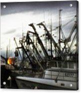Boats With Sprays Of Light Acrylic Print