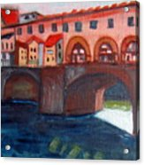 Bridge On The Arno Acrylic Print