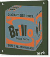 Brillo Box Colored 16 - Warhol Inspired Acrylic Print