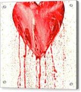 Broken Heart - Bleeding Heart Acrylic Print