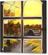Broken Window Dreamy Mirage Acrylic Print