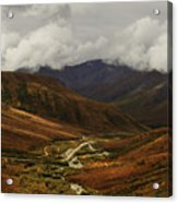 Brooks Range, Dalton Highway And The Trans Alaska Pipeline  Acrylic Print