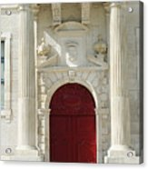Burgundy Door Acrylic Print