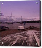 Canadian Harbor At Dusk  Acrylic Print
