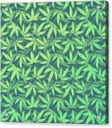 Cannabis   Hemp  420   Marijuana  Pattern Acrylic Print