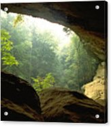 Cave Entrance In Ohio Acrylic Print