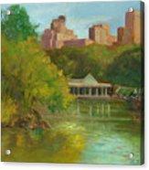 Central Park New York Boathouse Acrylic Print