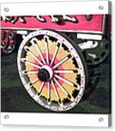 Circus Wagon Wheel Acrylic Print