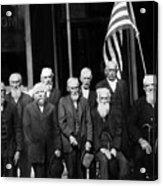 Civil War Veterans October 8 1923 Black White Acrylic Print