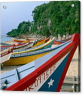 Colorful  Fishing Boats On Crashboat Beach Acrylic Print