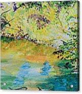 Creekside Acrylic Print by Lucinda  Hansen