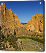 Crooked River At Smith Rock State Park Oregon  Acrylic Print