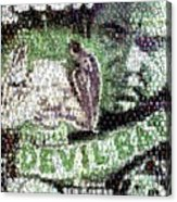 Devil Bat Movie Poster Horror Mosaic Acrylic Print