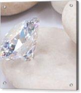 Diamond On White Stone Acrylic Print