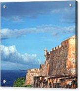El Morro Fortress Rainbow Acrylic Print