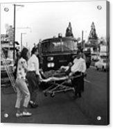 Fire Department Rescue Circa 1960 Black White Acrylic Print