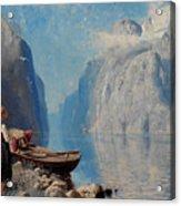 Fjord Landscape Acrylic Print