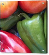 Fresh Peppers And Tomatoes Acrylic Print