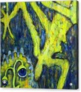 Frog Under The Rain Acrylic Print