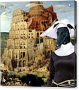 Galgo Espanol - Spanish Greyhound Art Canvas Print -the Tower Of Babel  Acrylic Print