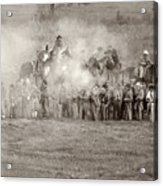 Gettysburg Confederate Infantry 7503s Acrylic Print