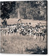 Gettysburg Confederate Infantry 9270s Acrylic Print