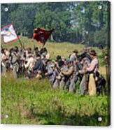 Gettysburg Confederate Infantry 9281c Acrylic Print