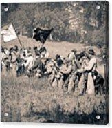 Gettysburg Confederate Infantry 9281s Acrylic Print
