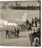 Gettysburg Union Artillery And Infantry 7439s Acrylic Print