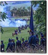 Gettysburg Union Artillery And Infantry 7457c Acrylic Print