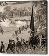 Gettysburg Union Artillery And Infantry 7457s Acrylic Print