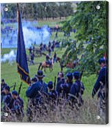 Gettysburg Union Artillery And Infantry 7459c Acrylic Print