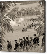 Gettysburg Union Artillery And Infantry 7465s Acrylic Print