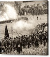 Gettysburg Union Artillery And Infantry 7496s Acrylic Print
