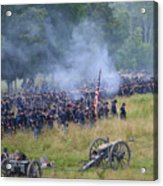 Gettysburg Union Artillery And Infantry 8456c Acrylic Print