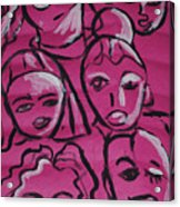 Girls Think Pink  Acrylic Print