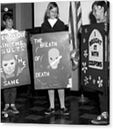 Grade School Children Kids Posters Circa 1960 Acrylic Print