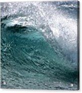 Green Cresting Wave, Hawaii Acrylic Print