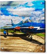 Hawker Hunter T7 Aircraft On Wood Acrylic Print