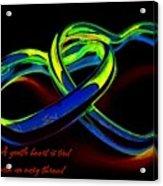 Heart Rings Acrylic Print