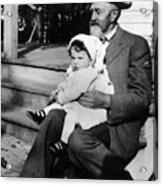 Holding Toddler 1912 Black White 1910s Archive Acrylic Print