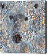 Holiday Hearts Polar Bear Acrylic Print