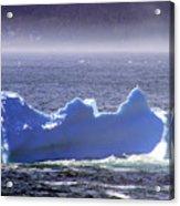 Iceberg Floating By Acrylic Print