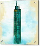 Illustration Of  Trump Tower Acrylic Print