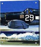 Into The Blue American War Planes Acrylic Print