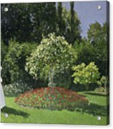 Jeanne Marie Lecadre In The Garden Acrylic Print