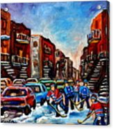 Late Afternoon Street Hockey Acrylic Print