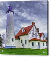 Lighthouse At Point Iroquois Acrylic Print