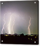 Lightning Thunderstorm View From Oaxaca Restaurant   Acrylic Print