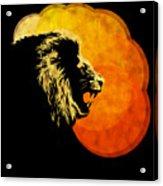 Lion Illustration Print Silhouette Print Night Predator Acrylic Print